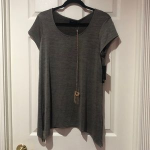 Never worn top with necklace